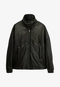 Massimo Dutti - Leather jacket - black - 0