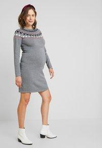 Esprit Maternity - DRESS - Etui-jurk - medium grey melange - 2