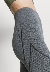NU-IN - SEAMLESS TWO TONE HIGH WAIST LEGGINGS - Leggings - grey - 4