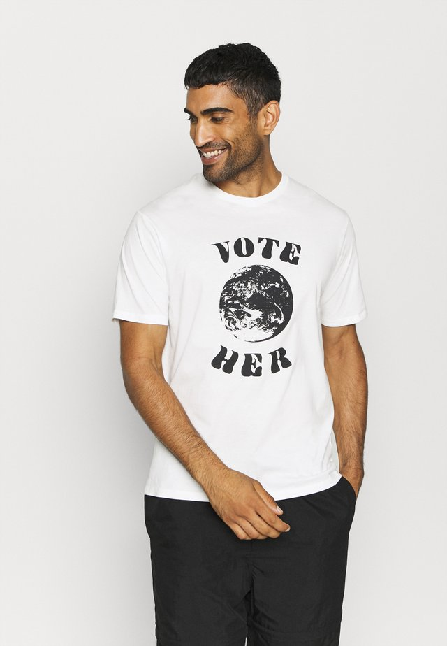 VOTE HER - T-shirt con stampa - white