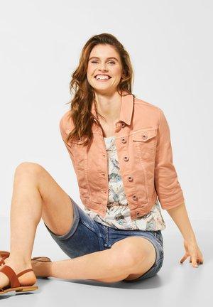 DENIMJACKE IM COLOUR STYLE - Denim jacket - orange