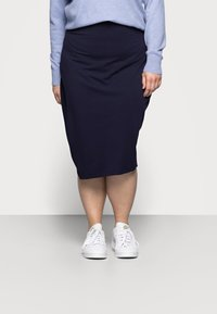 Even&Odd Curvy - 2 PACK - Pencil skirt - black/blue - 1