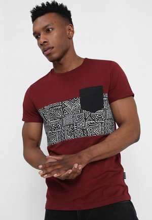 T-shirts med print - bordeaux