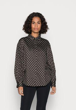BLOUSE LONG SLEEVE FEMININ STYLE PRINT - Button-down blouse - multi