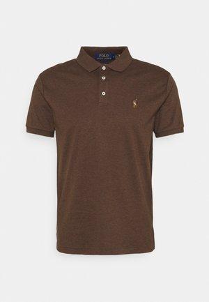 CUSTOM SLIM FIT SOFT COTTON POLO SHIRT - Polo shirt - nutmeg brown heather