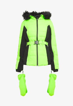 SKI NEON PADDED JACKET - Winter jacket - lime