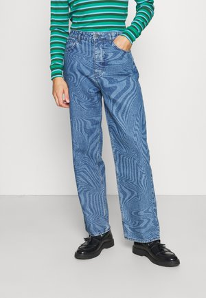 WARPED WAVE DISCHARGE - Relaxed fit jeans - blue