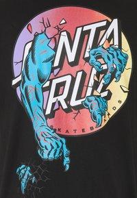 Santa Cruz - UNISEX ROB DOT  - Print T-shirt - black - 3
