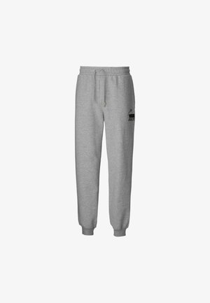 PEANUTS SNOPPY - Tracksuit bottoms - light gray heather