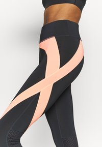 ONLY Play - ONPMALIA TRAIN TIGHTS - Leggings - blue graphite/neon orange - 5