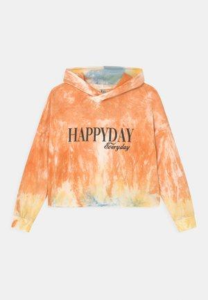 GIRLS HAPPYDAY BOXY HOODIE - Hoodie - mottled orange/black