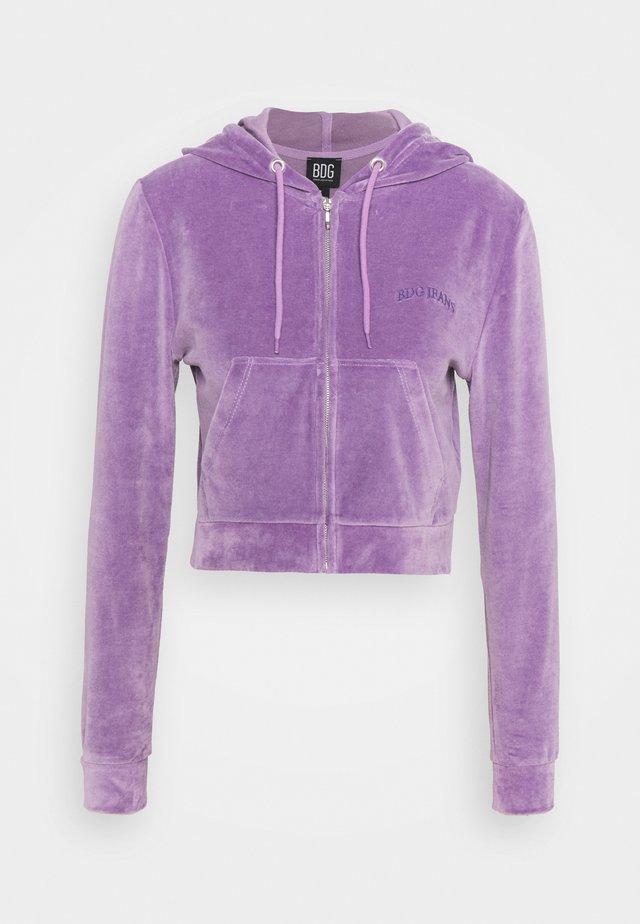 HOODY - Zip-up hoodie - lilac