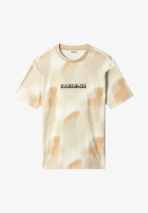 S-AIRBRUSH SS AOP - Print T-shirt - beige camou