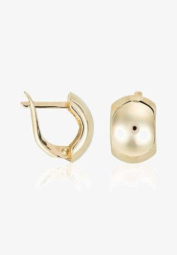 BOUCLES D'OREILLES OR JAUNE 375/1000 - Earrings - jaune