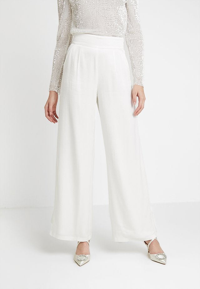 MARLENE BRIDAL PANTS - Trousers - snow white