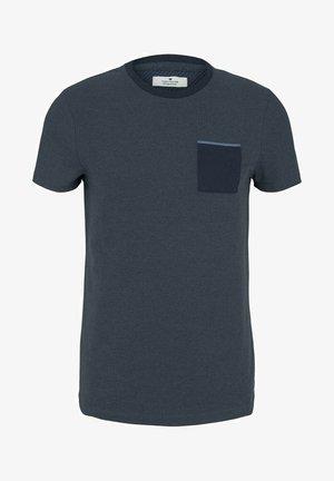 Basic T-shirt - blue white base melange