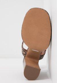 Topshop - RIPPLE PLATFORM - High heeled sandals - natural - 6