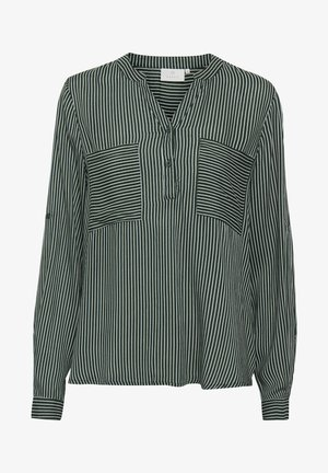 Blouse - dark green / chalk stripe