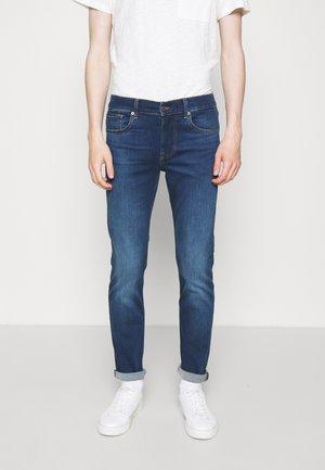 STRETCH - Slim fit -farkut - rise up dark blue