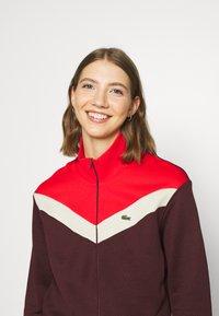 Lacoste - Zip-up sweatshirt - pruneau/marten corrida - 4