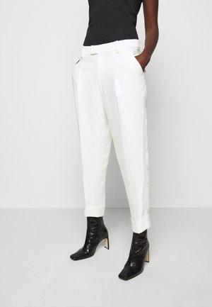 DAVE TROUSERS - Spodnie materiałowe - white