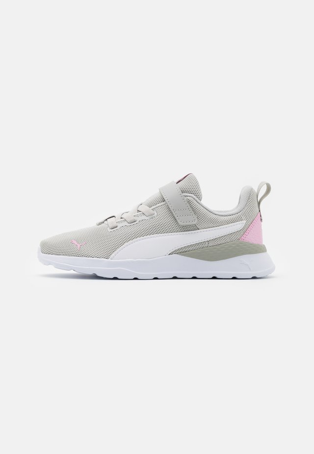 ANZARUN LITE METALLIC JR - Neutral running shoes - gray violet/white/pale pink