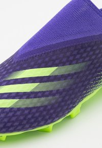 adidas Performance - X GHOSTED.3 FOOTBALL BOOTS FIRM GROUND - Moulded stud football boots - energy ink/signal green - 5