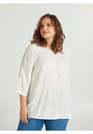 3/4 SLEEVED BLOUSE - Blouse - off-white