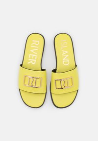 River Island - Mules - yellow bright - 4