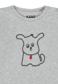 Kanz - LANGARM MIT TIERMOTIV  - Long sleeved top - grey/light grey/mottled red - 2