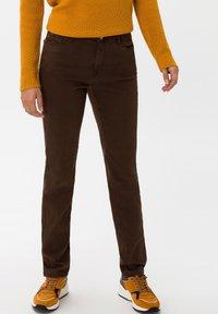 BRAX - STYLE CAROLA - Straight leg jeans - brown - 0