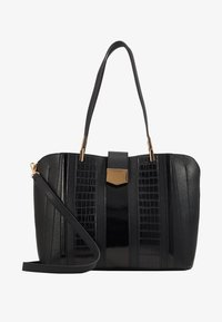 Dorothy Perkins - PANELLED COMPARTMENT TOTE - Tote bag - black - 1
