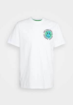 LUV THE WORLD TEE UNISEX - T-shirt imprimé - white