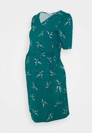DIVINE - Jersey dress - green/blue