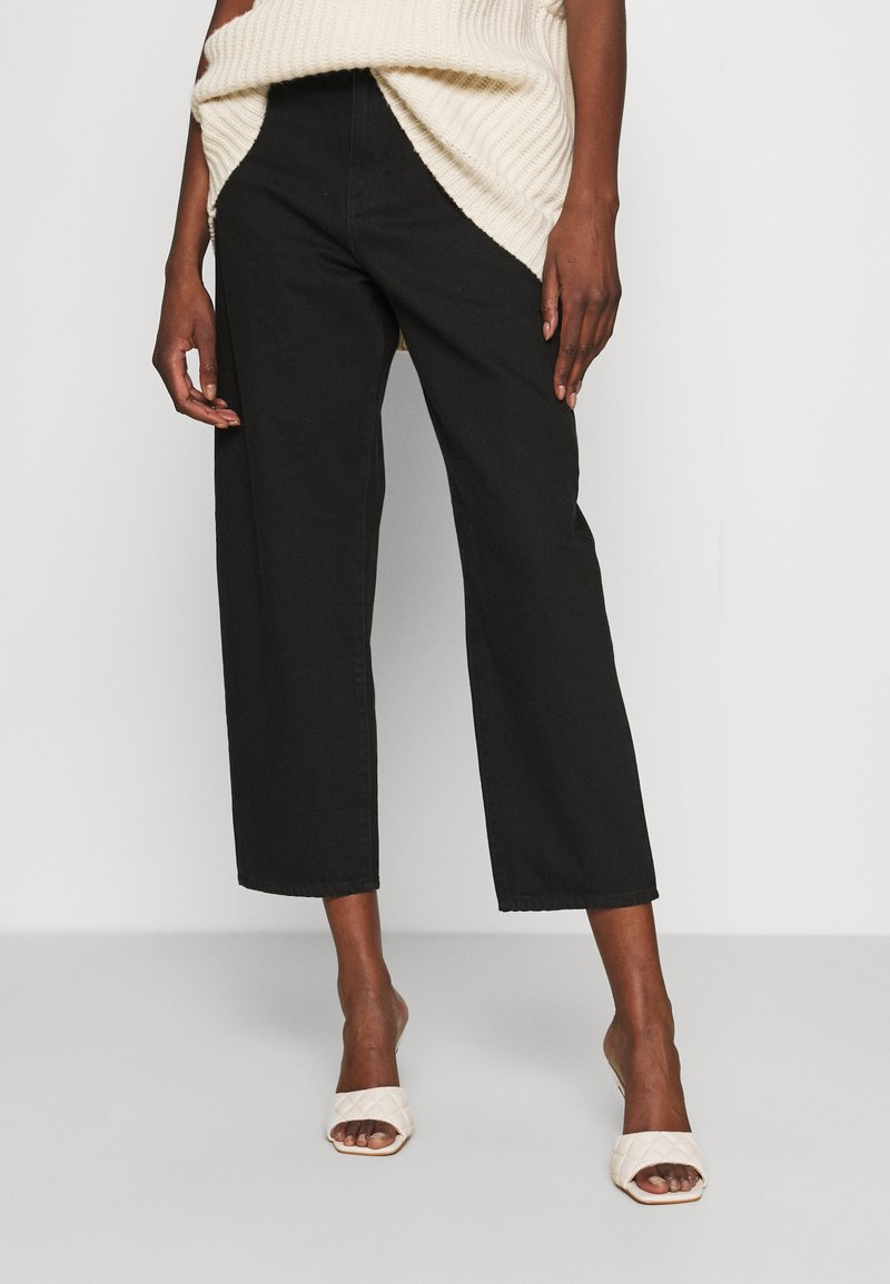 Lindex - TROUSERS BALLON  - Jeansy Relaxed Fit - black