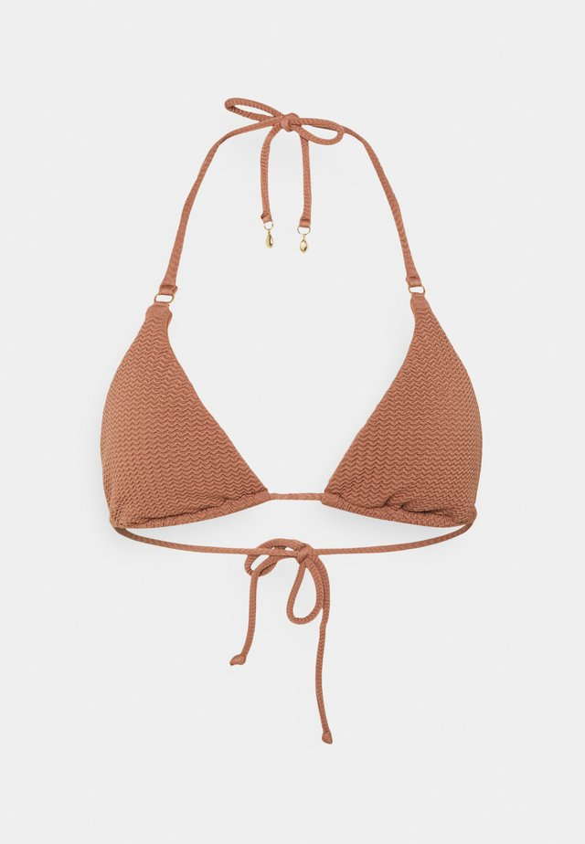 SEA DIVE SLIDE - Bikini top - bronze