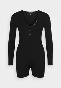 Missguided - BUTTON FRONT PLAYSUIT - Overal - black - 0