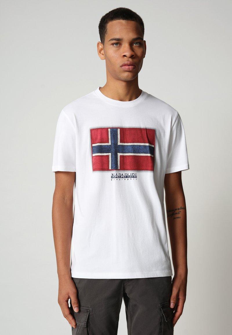 Napapijri - SIROL - Print T-shirt - bright white