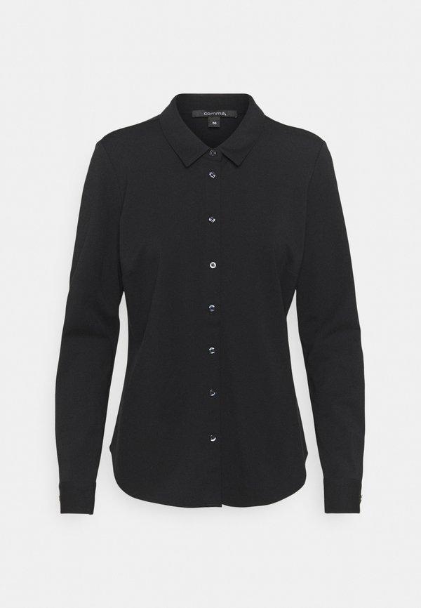 comma LANGARM - Koszula - black/czarny CHKG