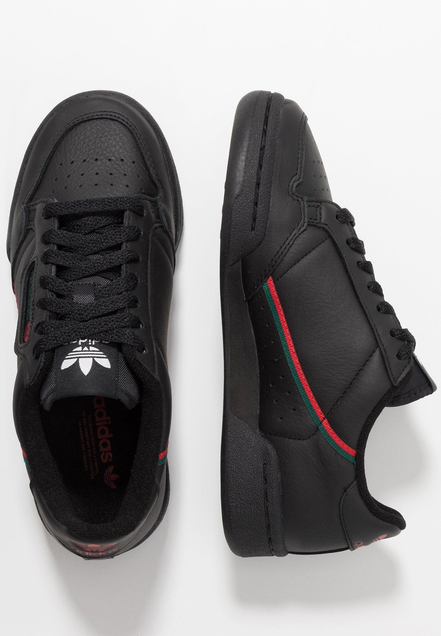Adidas Originals Continental 80 - Sneakers Core Black/scarlet/collegiate Green