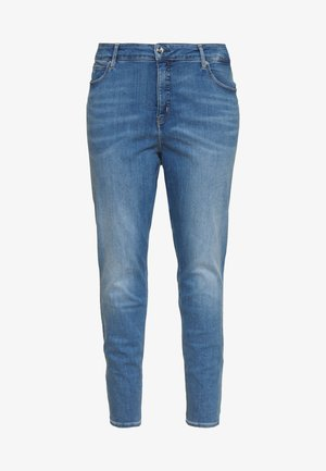HIGH RISE ANKLE - Jeans Skinny Fit - mid blue