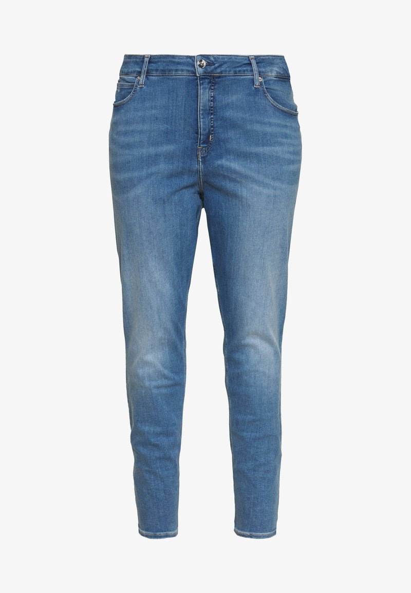 Calvin Klein Jeans Plus - HIGH RISE ANKLE - Jeans Skinny Fit - mid blue