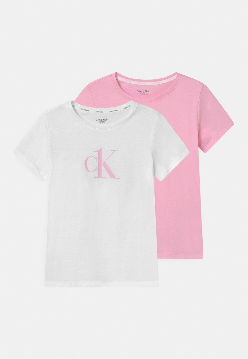 Calvin Klein Underwear - 2 PACK - Pyjama top - romantic pink/white