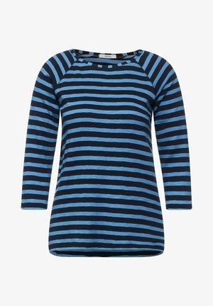 MIT STREIFEN MUSTER - Long sleeved top - blau