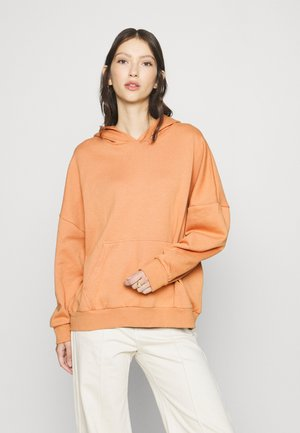 LONG OVERSIZED HOODIE - Jersey con capucha - camel