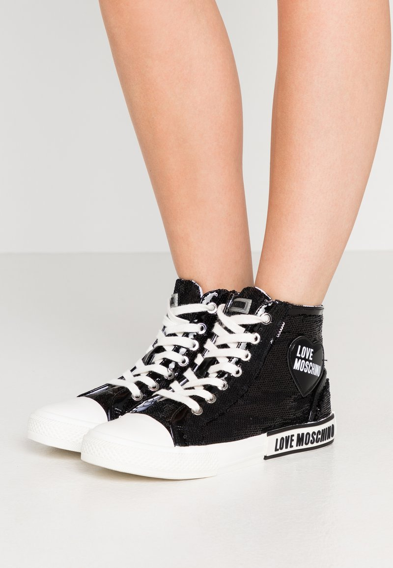 Love Moschino - LABEL SOLE - Baskets montantes - black