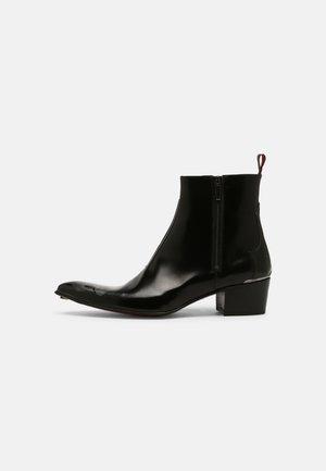 SYLVIAN DOUBLE ZIP - Cowboy/biker ankle boot - college black