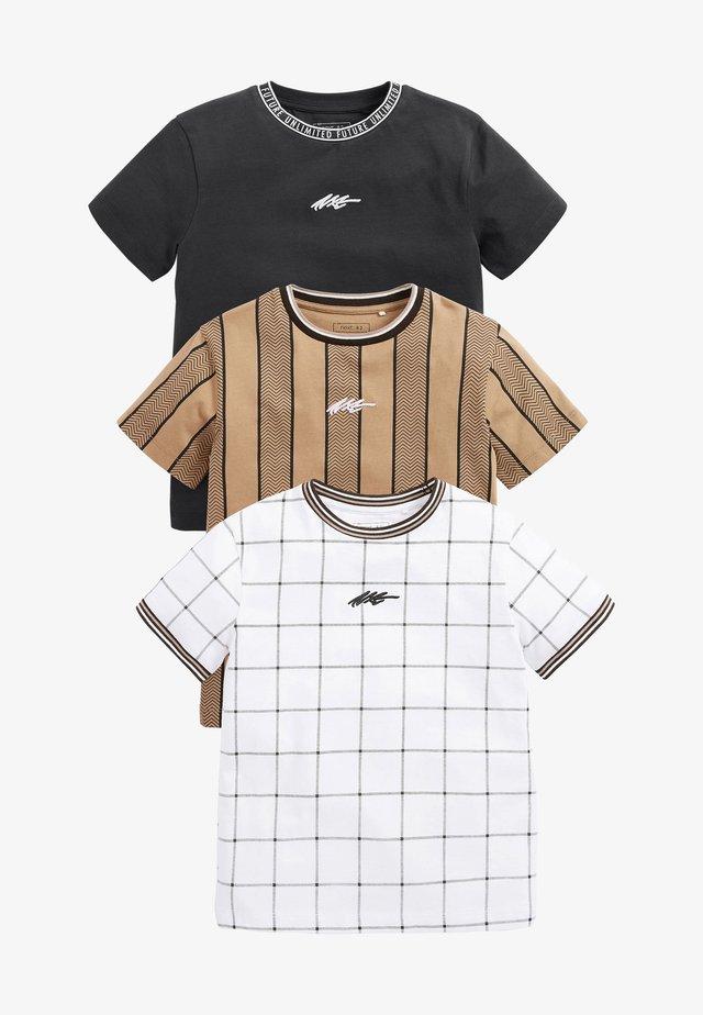 3 PACK  - Print T-shirt - multi-coloured