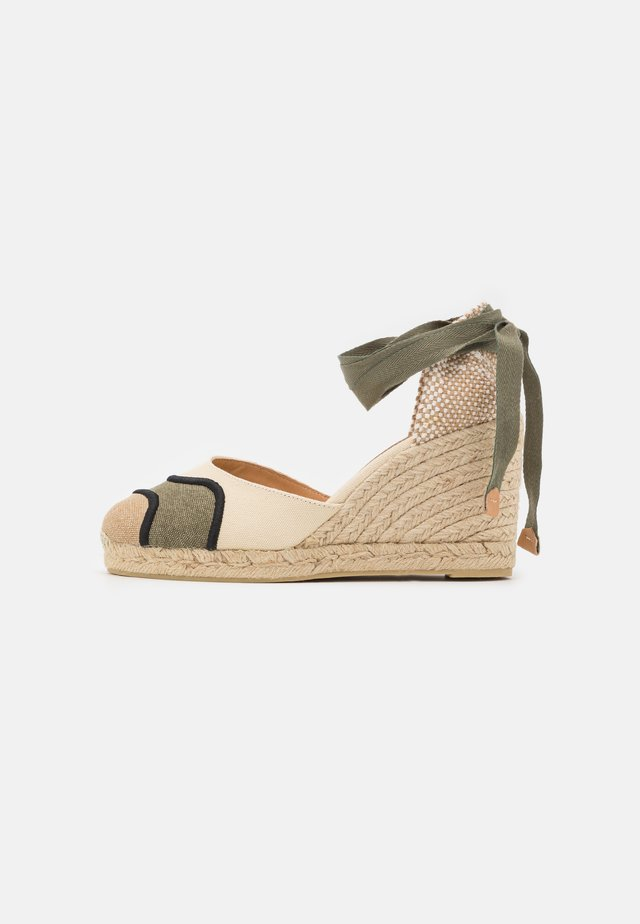 CASEY - Platform sandals - verde/multicolor