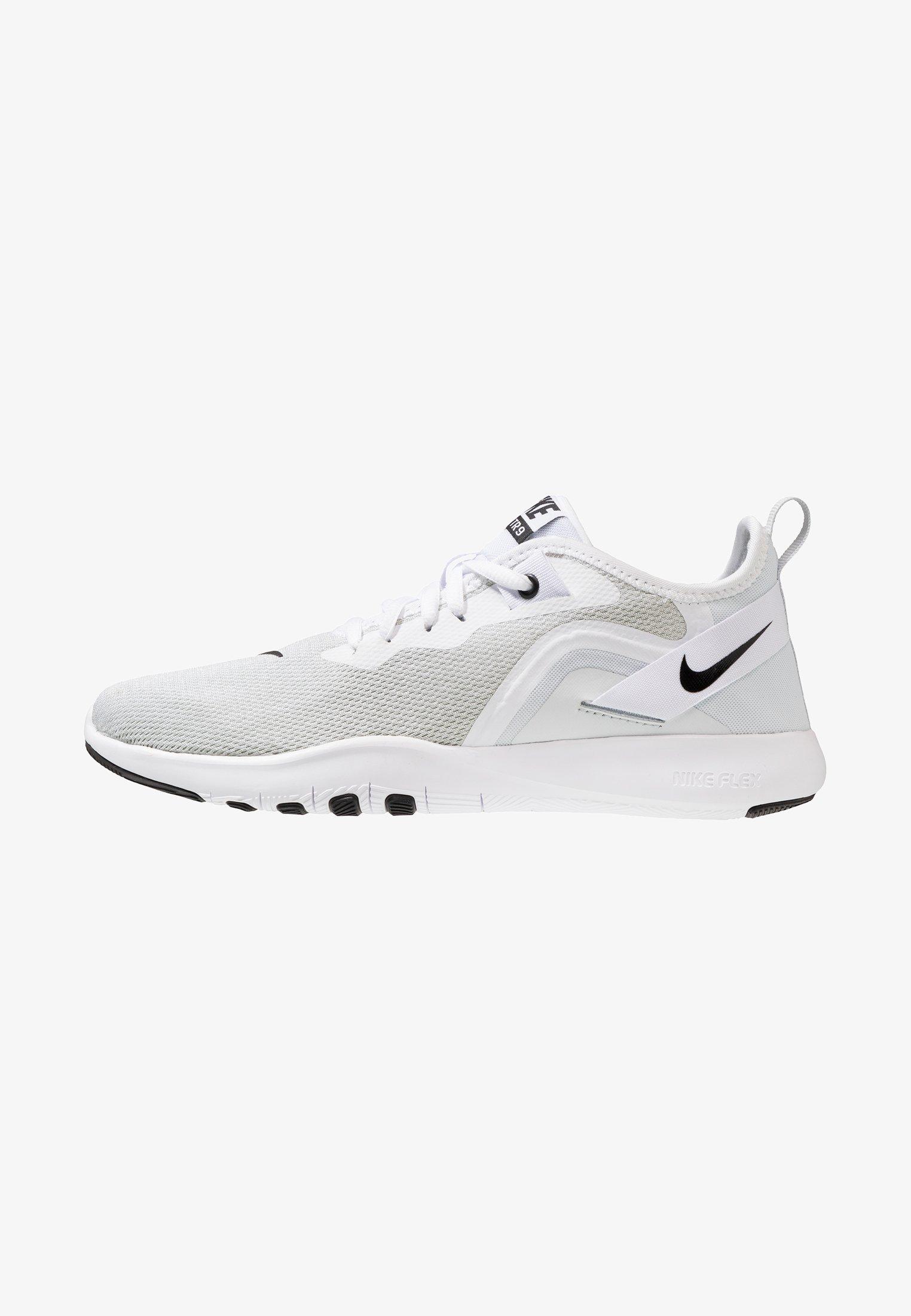 Periódico Puro Filosófico  Nike Performance FLEX TRAINER 9 - Sports shoes - white/black/pure  platinum/off-white - Zalando.co.uk